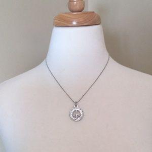 Lia Sophia Jewelry - LIA SOPHIA NECKLACE SILVER PEACE SIGN PEACESIGN